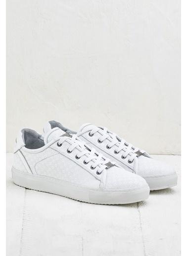 Elle Hakiki Deri Ayakkabı Beyaz